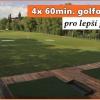 4x 60min, golfového tréninku pro zlepšení hry včetně videoanalýzy v Praze se slevou 60%!