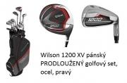 Wilson 1200 XV pánský PRODLOUŽENÝ golfový set, ocel, pravý