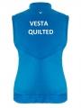Quilted modrá vesta 2