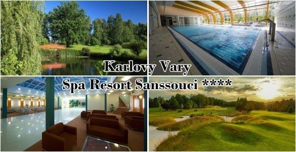 Spa Resort Sanssouci - 3denní golfový pobyt s polopenzí v Karlových Varech + 2 fee na různých hřištích + další hýčkání