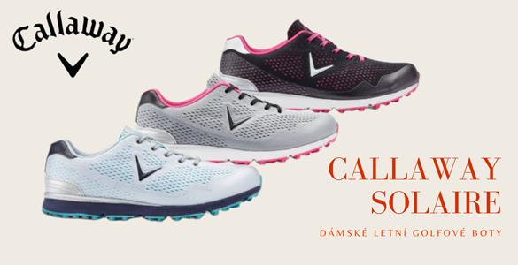 Lehké Callaway Solaire dámské letní golfové boty bez spiků se slevou 48% ve 3 ruzných barvách