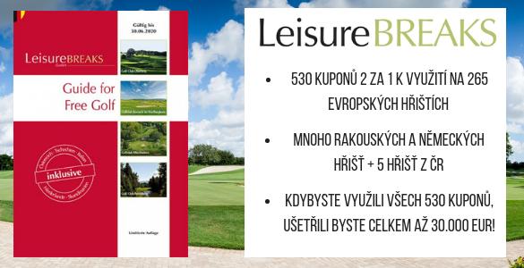 LeisureBREAKS 2019/20 - 530 kuponů na golf za polovic! Nyní sleva 47%