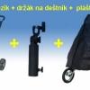 Golfový vozík Legend 3kolový + držák na deštník + pláštěnka na bag se zipem