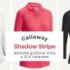 Dámské golfové triko Callaway s 3/4 rukávem za 1090 Kč!! Černé, bílé, korálové, velikosti XS-XXL