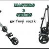 Golfový vozík Masters 3 Series tříkolový se slevou 40%