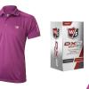 Wilson Staff Performance pánské tričko + minibalení 2ks míčků DX2 Soft