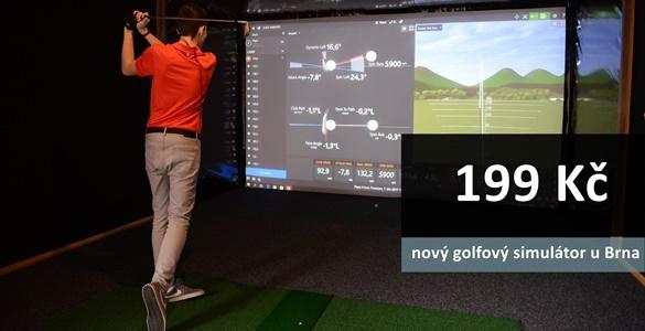 Nový golfový simulátor u Brna  - hodina hry na Trackmanu až pro 4 hráče jen za 199 Kč