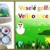 6 golfových vajíček s velikonočními motivy - výběr různých nosnic, viz další varianty