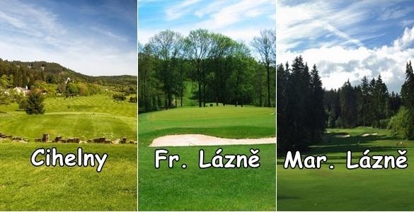 Lázeňský golf 3 fee Cihelny + Fr. Lázně + Mar. Lázně se slevou 35%