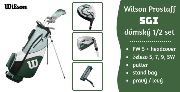 Wilson Prostaff SGI dámský pravý / levý golfový půlset s bagem za akčních 5650 Kč