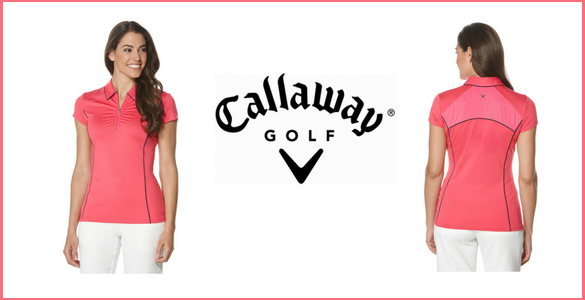 Šik balíček Callaway: dámské růžové tričko Piped a bílé kalhoty Chev za 1.550 Kč