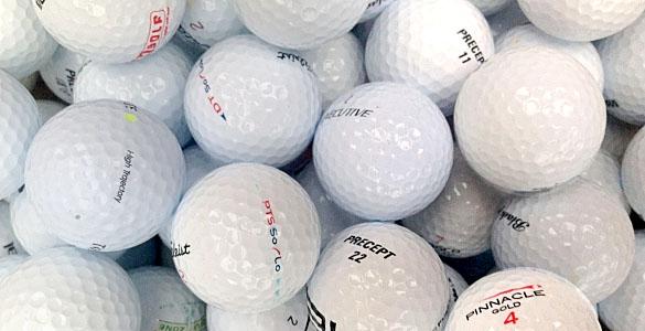 100 ks hraných golfových míčků za cenu padesáti - mix značek, nejvyšší kvalita, sleva 50% + další varianty!