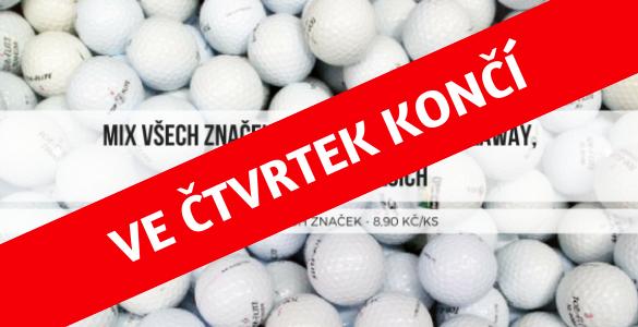 Hrané golfové míčky 50 ks - AB kvalita mix všech značek jen 8,90 Kč/ks