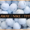 Golfové míčky Callaway - Nike - Titleist, 50 ks mix kvalita AB jen za 399 Kč!