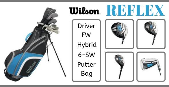 WILSON REFLEX - pánský kompletní golfový set s bagem za podzimních 6190 Kč