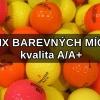 Barevné golfové míče hrané v nejlepší kvalitě A/A+, mix barev, jen 12 Kč/ks