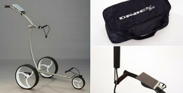 Ruční golfový vozík Davies Caddy Compact + KOMPLET příslušenství - výběr z 28 barevných kombinací!