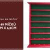 Kvalitní dřevěná vitrína na 49 golfových míčků