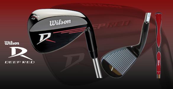 Wilson Deep Red wedge 52 stupňů v elegantním černém provedení se slevou 57%
