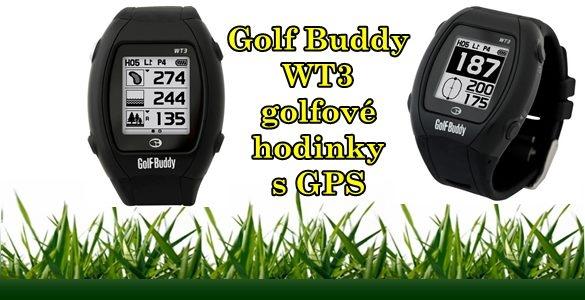 Golf Buddy WT3 - golfové hodinky s GPS - přesné měření vzdáleností, více než 36000 hřišť v paměti, digitální skorkárta,...