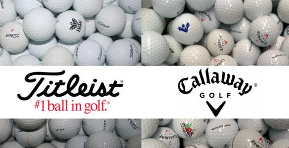 Hrané golfové míčky TITLEIST nebo CALLAWAY A/B (50 ks) za 12 Kč/ks