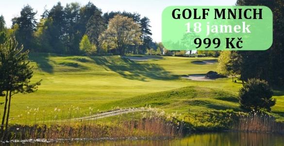 Golf Mnich - fee 18 jamek se slevou 41%