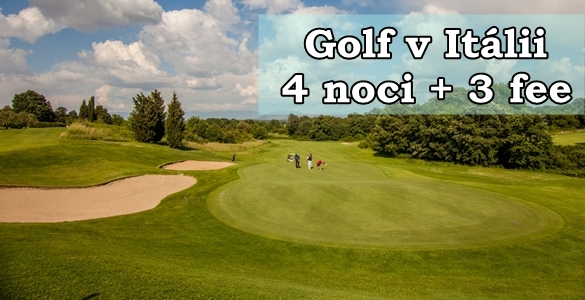 Golf poitalsku - 4 noci + 3 fee, snídaně, 2x lekce s trenérem, jen 7990 Kč / os.
