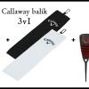 Callaway 3v1:  tři míčky + ručník + vypichovátko s markovátkem = 675 Kč