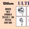 WILSON ULTRA - dámský kompletní golfový set s bagem za vábivých 5790 Kč