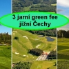 Balíček jihočeských green fee - Mnich + Hluboká + Český Krumlov na 18 jamek se slevou 27%.