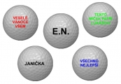 Golfové míčky s vlastním jménem