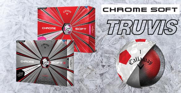 Prémiové míče Callaway Chrome Soft (X) Truvis 12 ks za nepžehlédnutelných 795 Kč