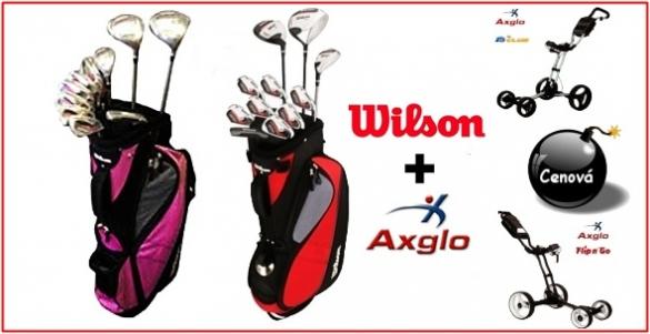 Golfový set Wilson 1200 GE pánský  + superskladný kanadský Axglo vozík Flip n Go = 9650 Kč