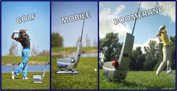 GOLF MOBILE BOOMERANG - domácí golfový trenážér pro golfové vášnivce za výprodejovou cenu