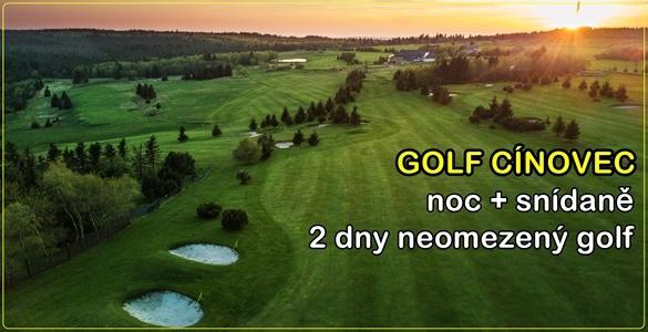 Golf Cínovec & Krušnohorský Dvůr nebo Hotel Pomezí - 2denní neomezený golf + noc se snídaní za bombastických 995 Kč nebo další varianty