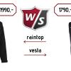 Wilson Staff FG Tour Rain Top 1990 Kč nebo vesta 1790 Kč