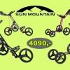 Sun Mountain golfové vozíky - 2 typy, 6 barevných variant za úžasnou cenu 4090 Kč