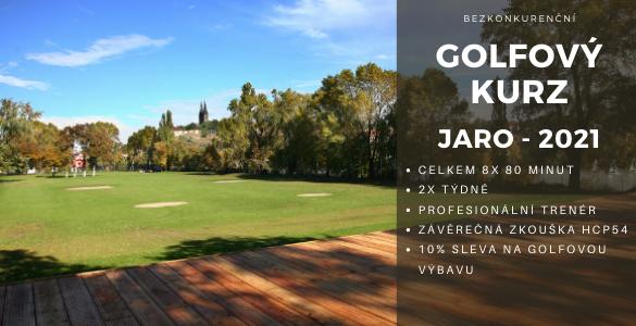 Bezkonkureční golfový kurz 8x 80min v Praze se závěrečnou zkouškou jen za 3500 Kč - tip pro golfové váhače.