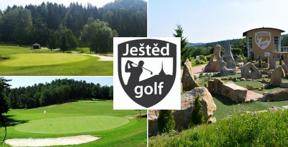 GOLF JEŠTĚD green fee 18-24 jamek + vstup na adventure golf, vše za 550 Kč!