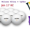 Wilson Ultra nový golfový míček + plastové týčko = 17 Kč. Libovolné množství se slevou 39%
