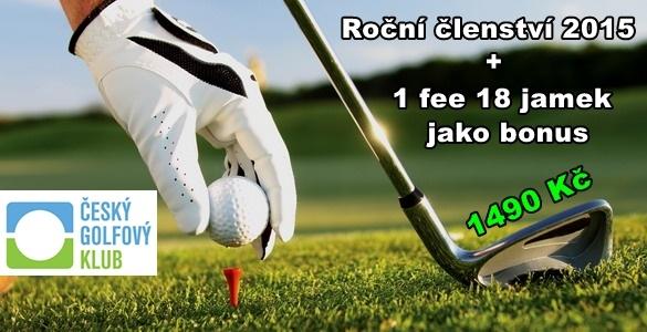 ČGK golfové členství 2015 + 1x fee 18 jamek = 1490 Kč! Výběr z 26 hřišť