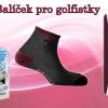 Balíček pro golfistky -  1x rukavice, 2x pár ponožek, 3x golfový míček DX2