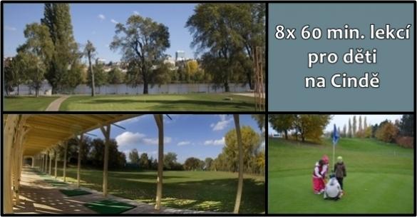 Golfová škola pro děti 8x60 minut na Císařské louce s 50% slevou