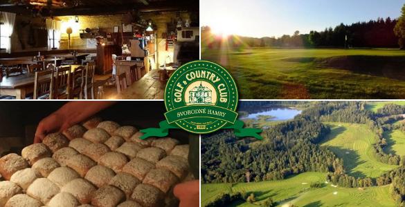 SVOBODNÉ HAMRY: 1 noc v historické krčmě + 2 dny golfu od 995 Kč/osoba!