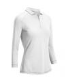 Callaway Shadow Stripe dámské golfové triko s 3/4 rukávem, bílé