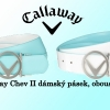 Callaway Chev II 2016 oboustranný dámský golfový pásek - mentolová/ bílá za směšných 570 Kč