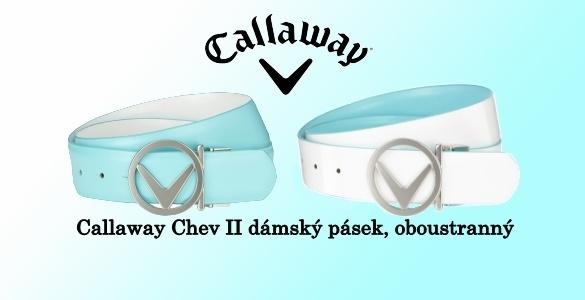 Callaway Chev II oboustranný kožený golfový pásek - VÝPRODEJ