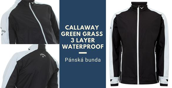Pánská nepromokavá bunda Callaway Green Grass 3.0 - poslední kousky za 2.390 Kč!