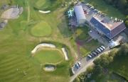 Ještěd golf letecký pohled