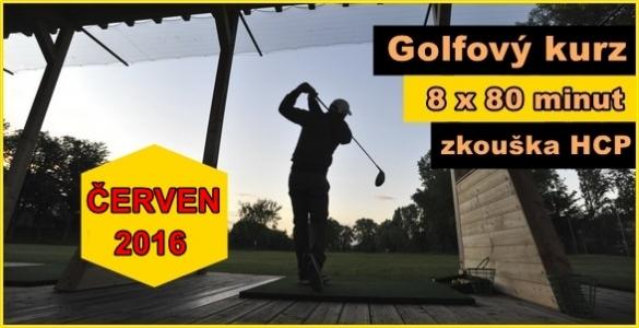Bezkonkureční golfový kurz 8x 80min. na HCP se závěrečnou zkouškou - 2990 Kč